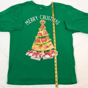 Holiday Time Tops - Holiday Time- Funny Merry Crustmas pizza tee